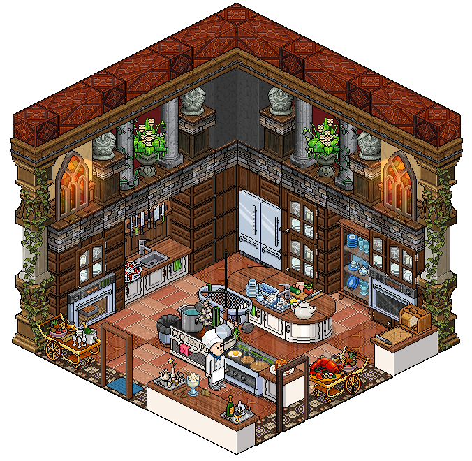 Habbo Hotel Interior Design