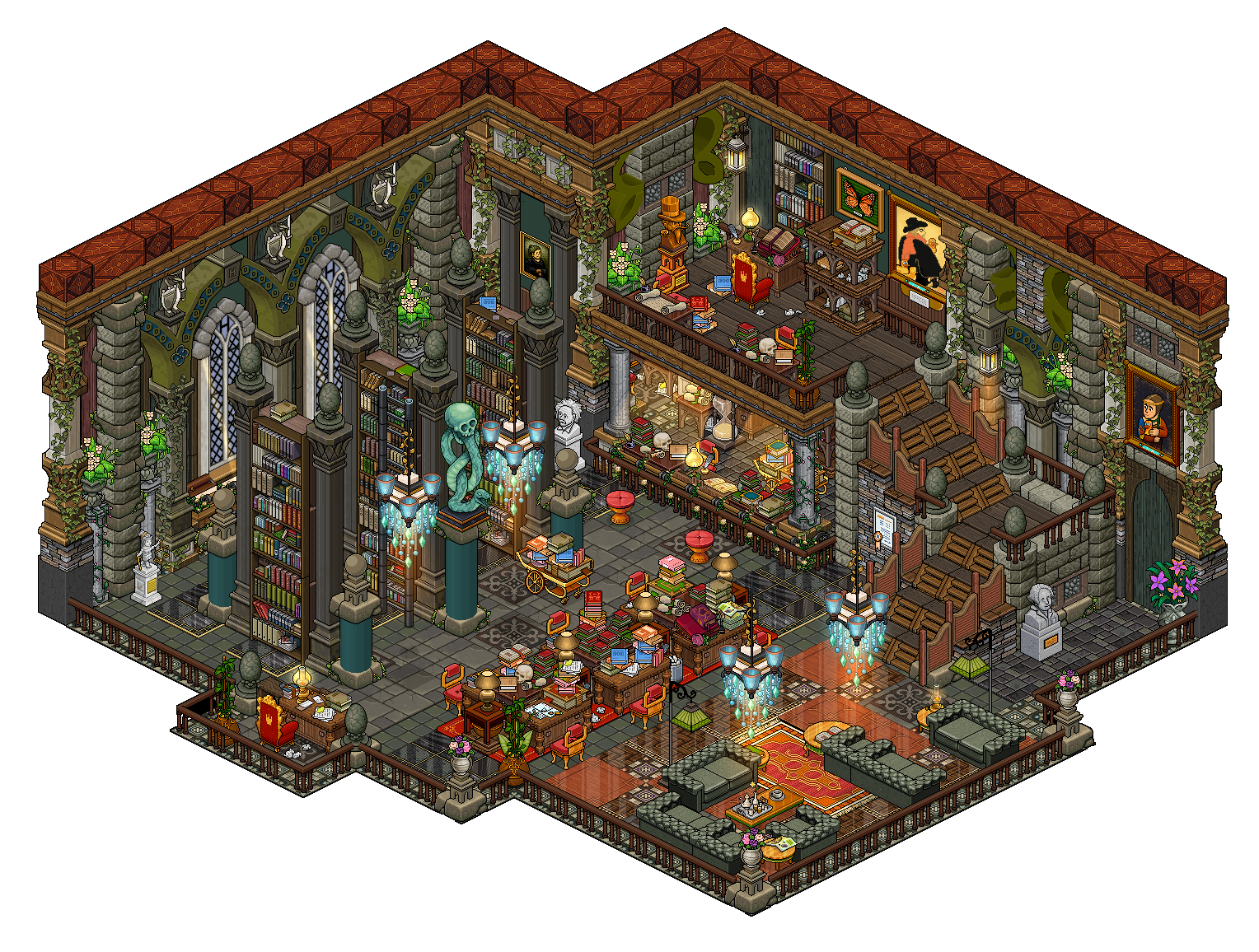 Mansion - Library by Cutiezor on DeviantArt