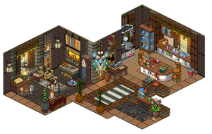 Little Piece Of Paradise Living Room And Kitchen by Cutiezor