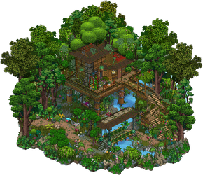 Jungle Treehouse by Cutiezor