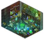 Witch's potion room