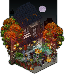 Halloween 2016 - frontdoor decoration design by Cutiezor