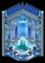 Classy blue Plumeria bathroom by Cutiezor