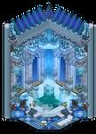 Classy blue Plumeria bathroom