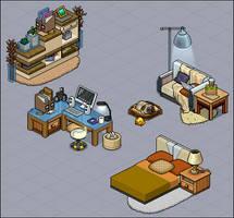 Modern apartment furni set by Cutiezor