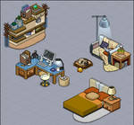 Modern apartment furni set