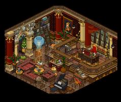 19th century study room