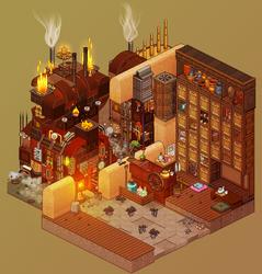 Spirited Away - Coal room