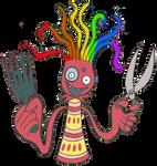 Gay Red Octopus Hairdresser