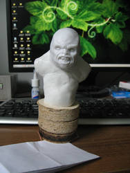 soon-to-be ogre bust