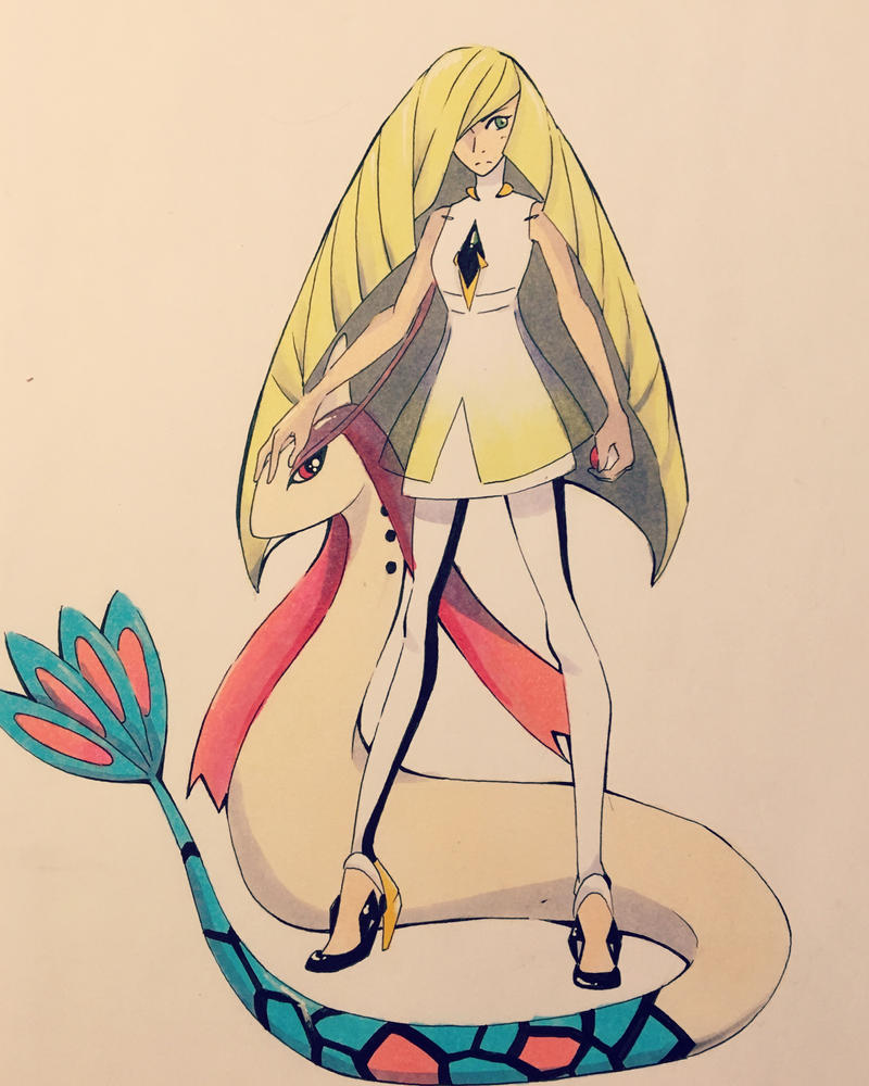 Lusamine and Milotic by Jackheyman133