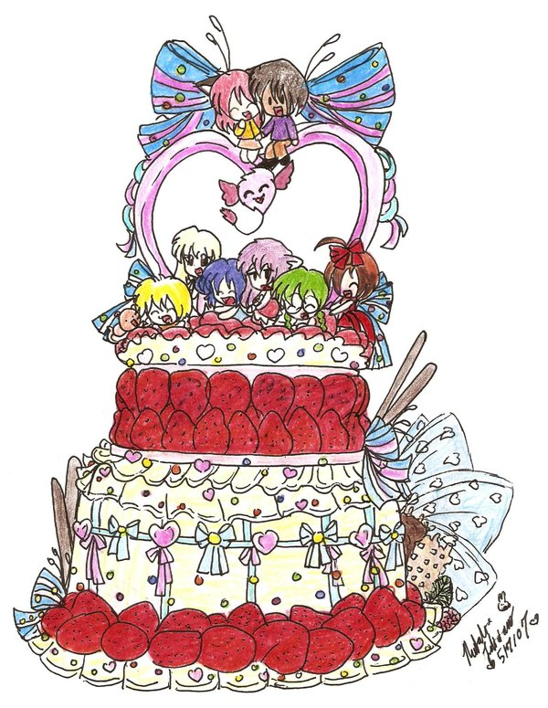 Mew Birthday Cake