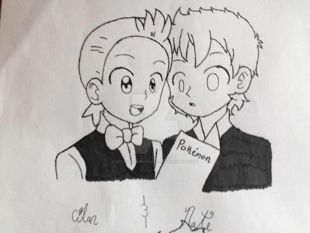 Cilan and Nate by SebastianMichaelis3