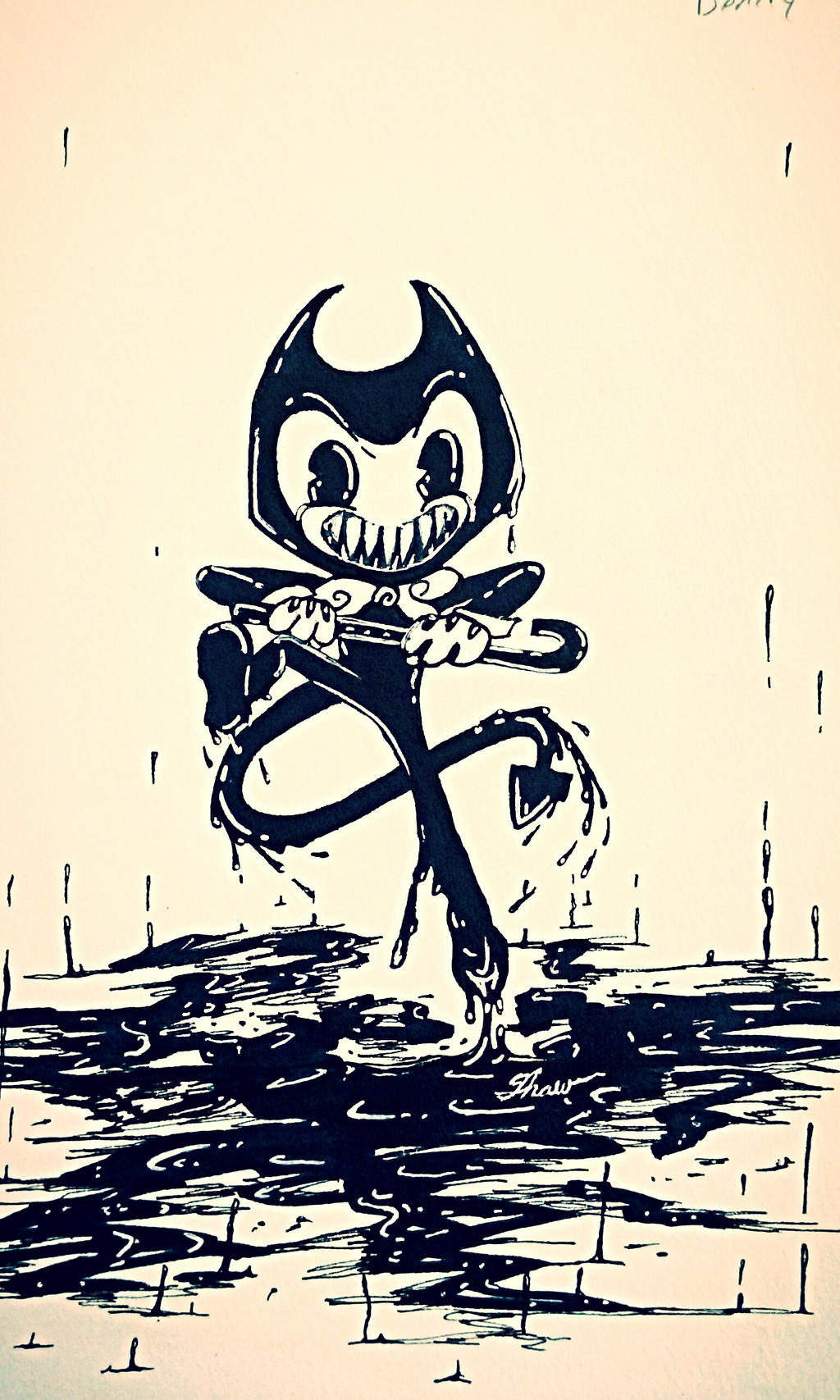 Bendy and The Ink Machine style attempt 1 by Silvra19