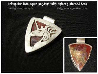 reversible unicorn pendant by Dwelian