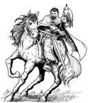 Medieval Lord hunting