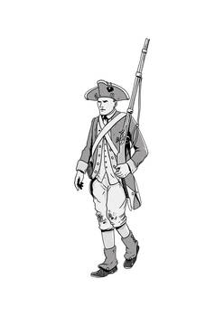 Continental army infantry