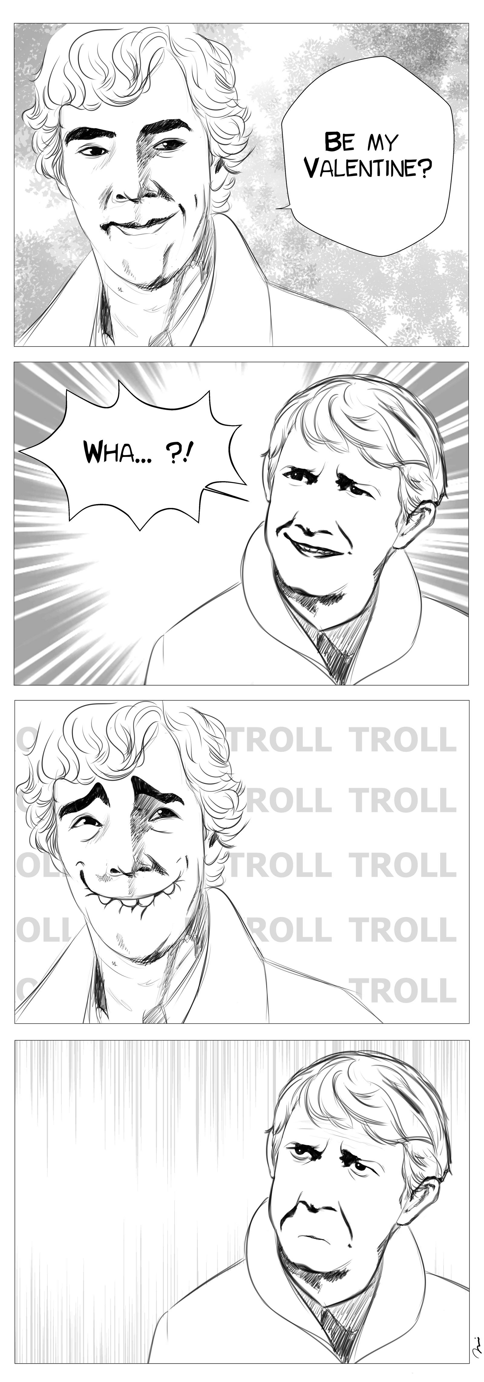 BBCs Sherlock: Be my Valentine by AgentKnopf