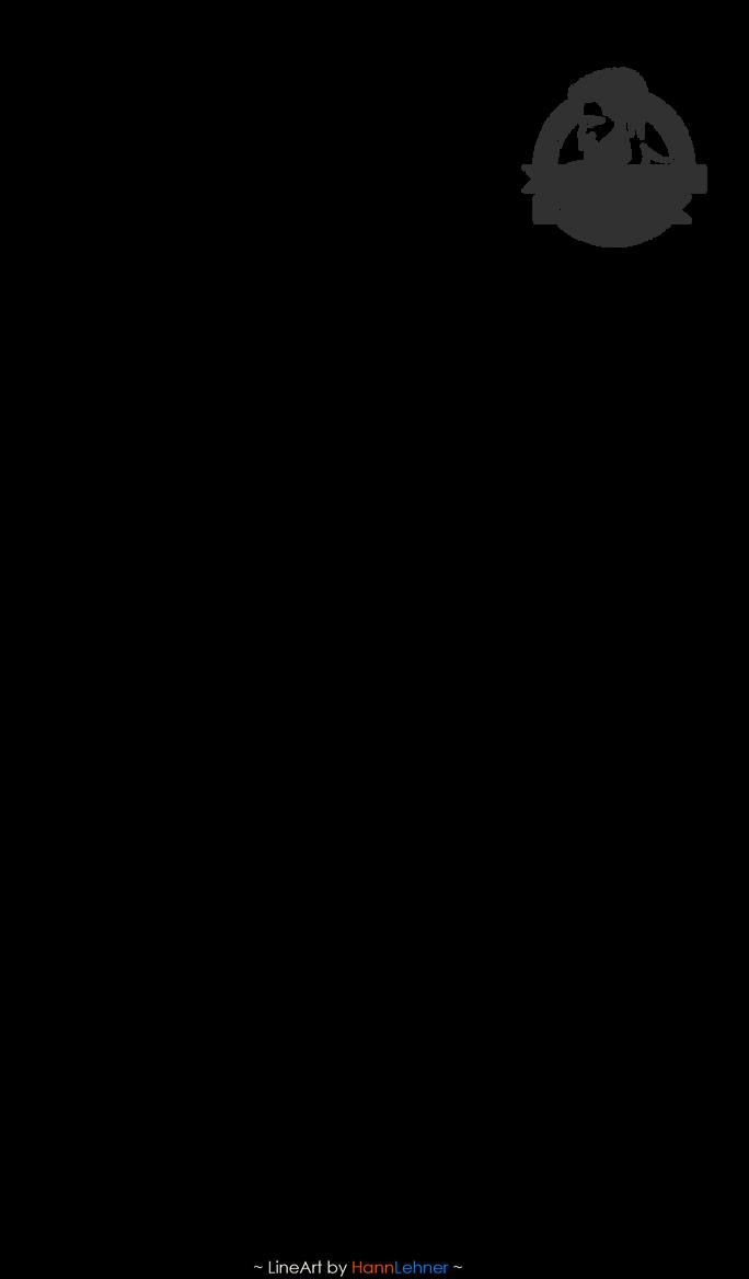 Sebastian Michaelis muscling [LineArt] by HannLehner