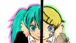 Miku and Rin Rolling Girl