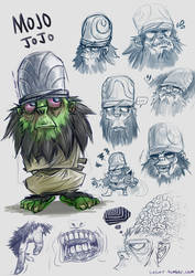 PPGA: MOJO Initial Concept Sketches by lielurr
