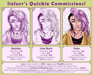 Lielurr's Quickie Commission Chart by lielurr