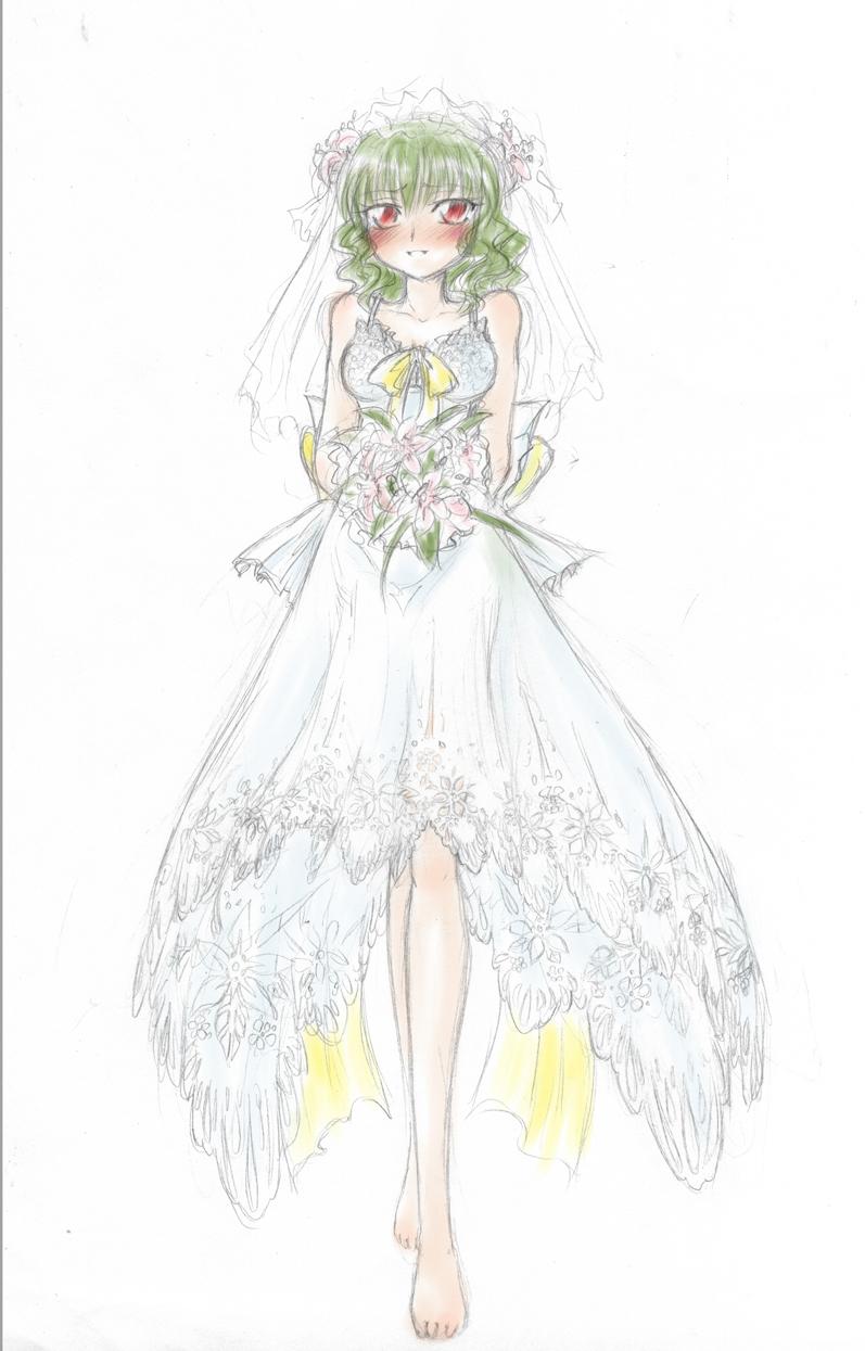 Wedding dress by Himawari-no-Yuka on DeviantArt