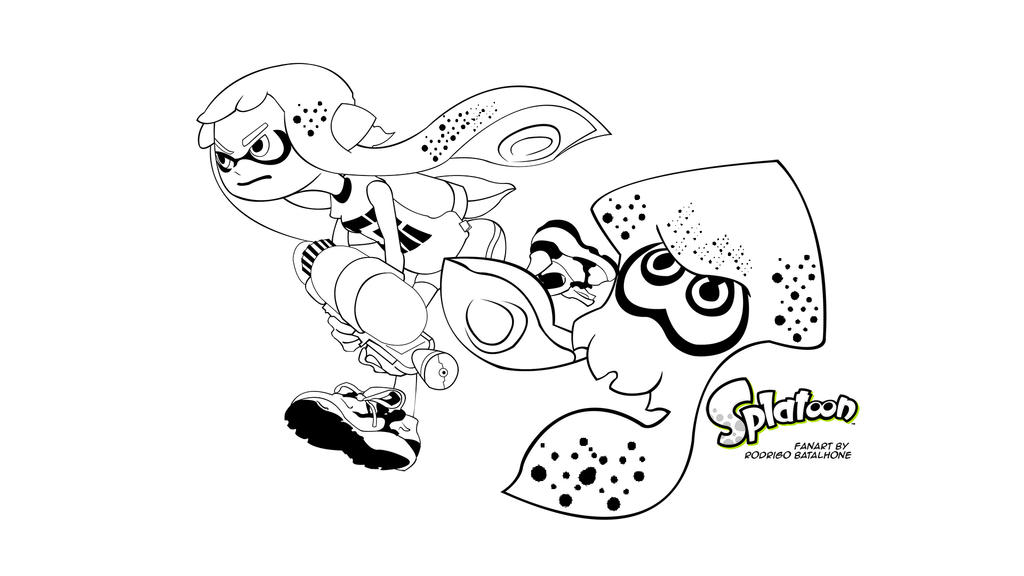 splatoon squid coloring pages coloring pages search results