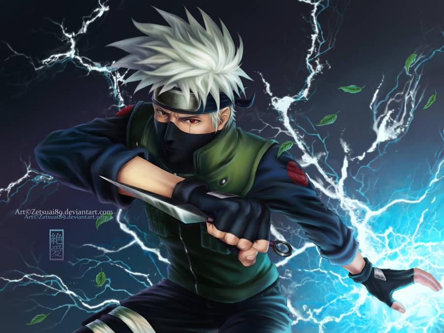 Kakashi Hatake-chidori _Naruto by Zetsuai89