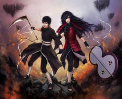 MADARA and OBITO _ on the front lines War on fate by Zetsuai89