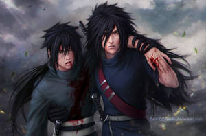 MADARA and IZUNA _ the brotherly blood _ 624 by Zetsuai89