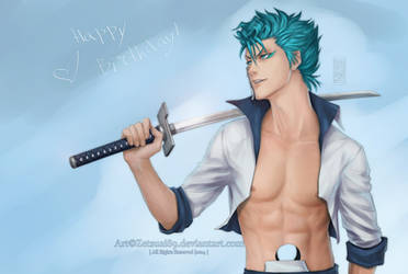 GRIMMJOW Jeagerjaques _ BLEACH 31.07.14 by Zetsuai89