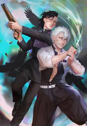 Shinazugawa Sanemi and Genya _ Kimetsu no yaiba