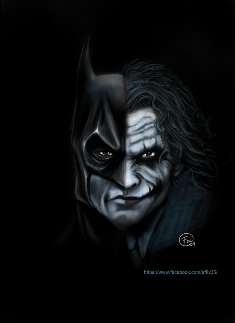 Batman vs Joker by effix35 on DeviantArt