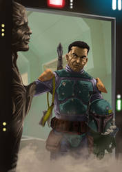 Boba Fett Trophy - unmasked - by effix35