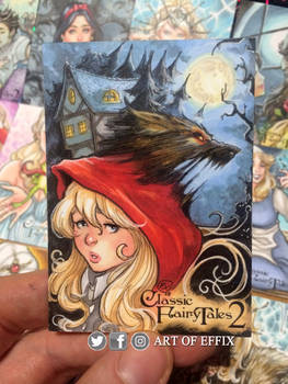 Little red riding hood Sketch card