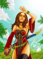Warcraft, my warlock Melissia by effix35