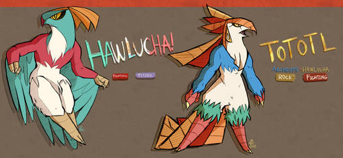 Hawlucha Variants Part 1 by Cakeybots