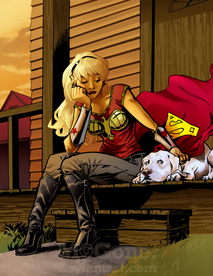 Krypto and Cassie by mcguan