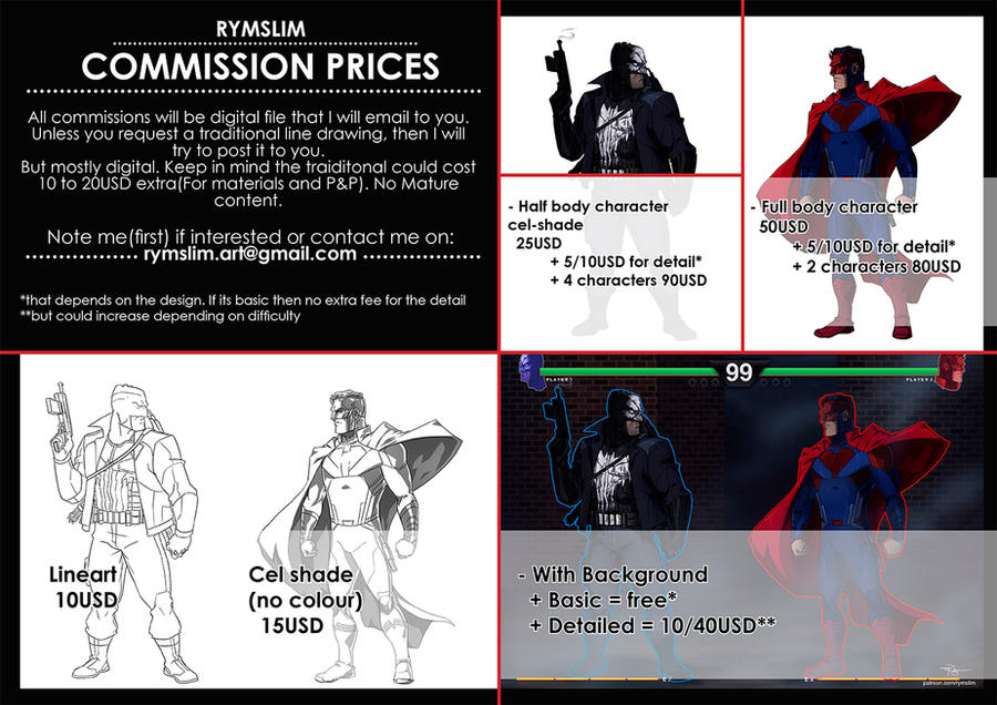 Commission Prices by rymslm