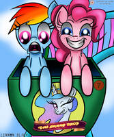 Pinkie And Dash Coaster Fun by LennonBlack