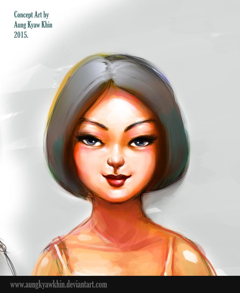 face Study by AungKyawKhin