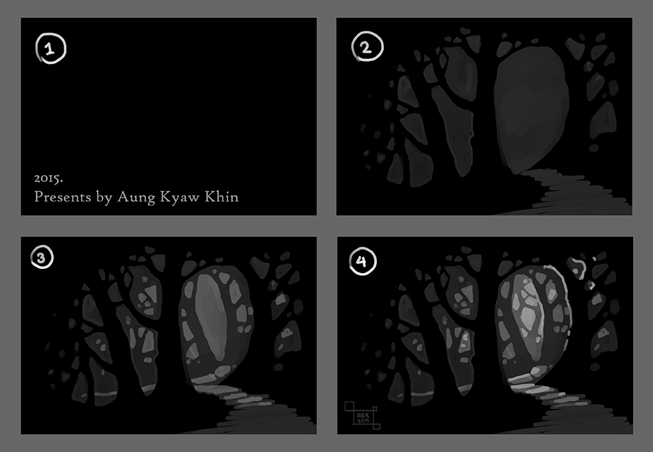 Basic Forest Drawing Concept! by AungKyawKhin