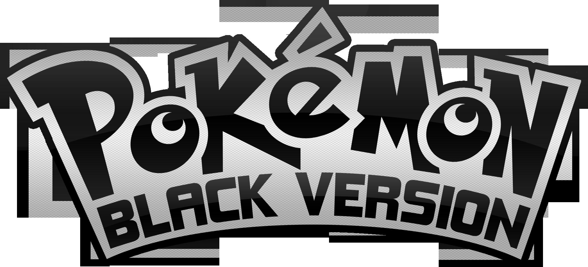 Pokemon Black Version Logo by Nalty on DeviantArt
