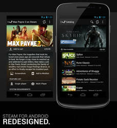 Steam for Android Redesign