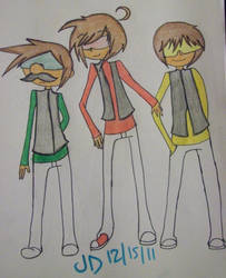 AT: Chuggaa, Josh and Luigi Colored by animeloverjd