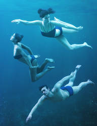 Underwater Poses for Genesis 3 and Genesis 8 by ratorama