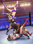 Women Wrestlers Poses for Genesis 3 and 8 Female