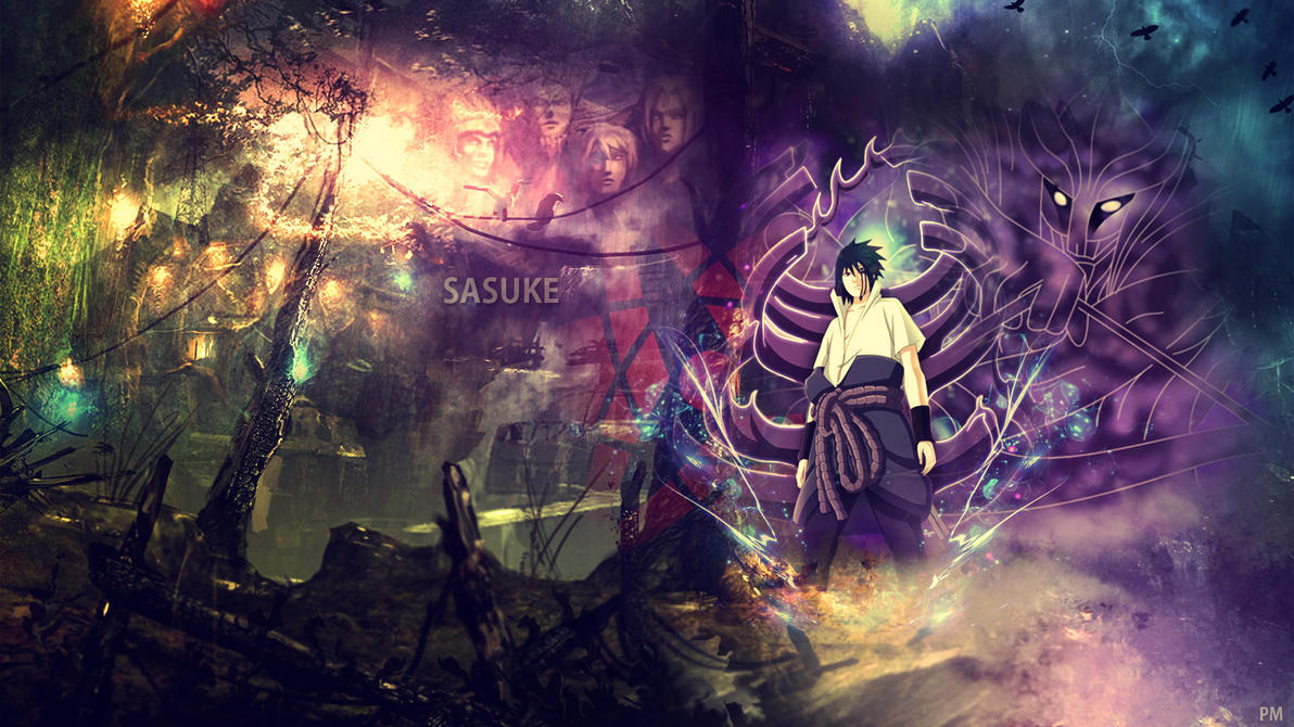 wallpaper sasuke uchiha by attats on deviantart