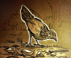 Inktober - Day 5 Chicken by BlueFluffyDinosaur